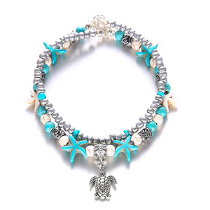 Tropical Beach Turquoise Anklet