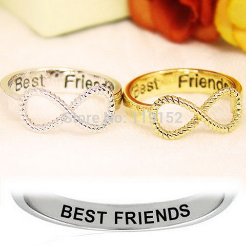 Best Friends Infinity Ring Set