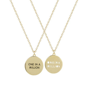 Best Friends BFF One In A Million Pendant Necklaces (2 PC)