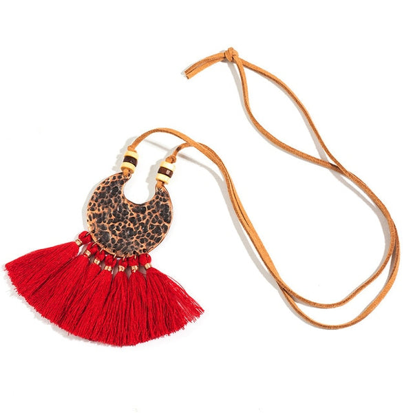 Bohemian Ethnic Long Tassel Fringed Earring & Necklace