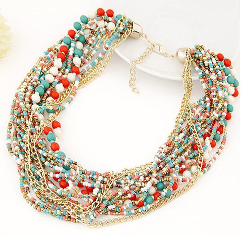 Vintage Bohemian Beads Chain Necklaces