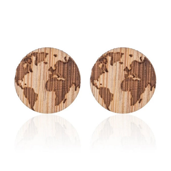 Wanderlust World Map Earrings