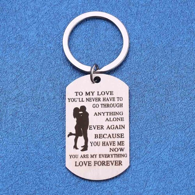 Personalized To My Love Keychain