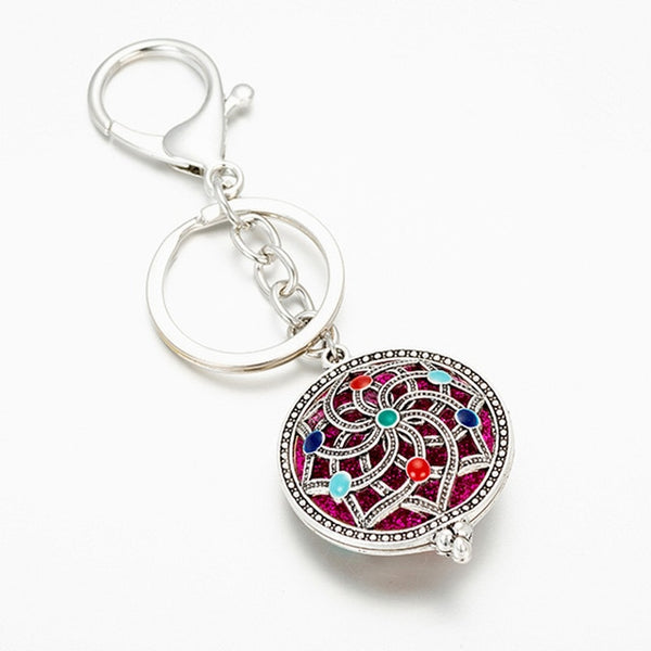 Exquisite Tree Of Life Aromatherapy Locket Pendant Keychain