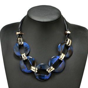Classy Colorful Statement Necklace