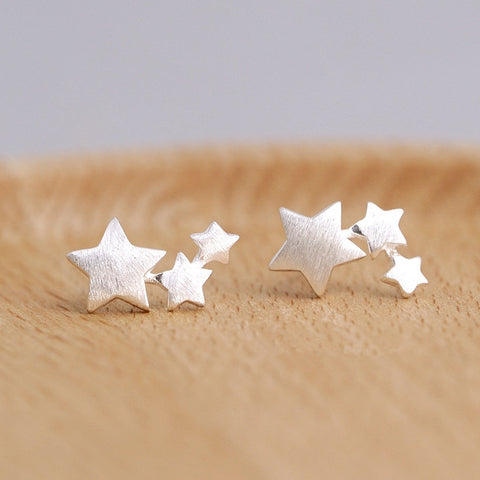 925 Sterling Silver Star Stud Earrings