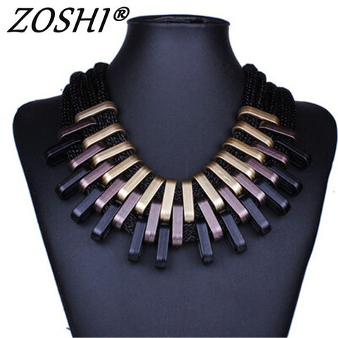 Gradient Drops Choker Statement Necklace