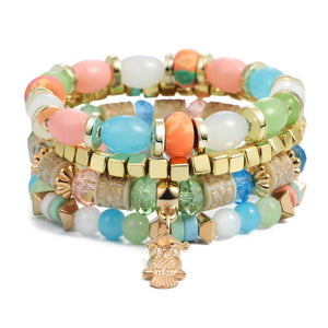 Natural Stones Crystal Beads Tassel Bracelets