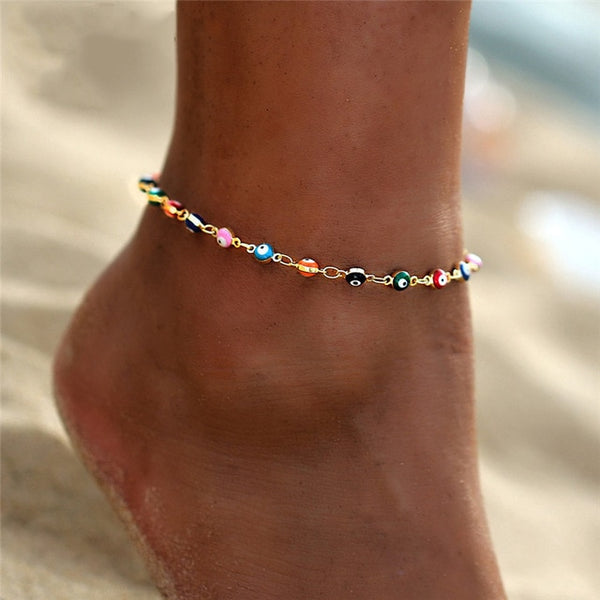 Bohemian Colorful Beach Anklets