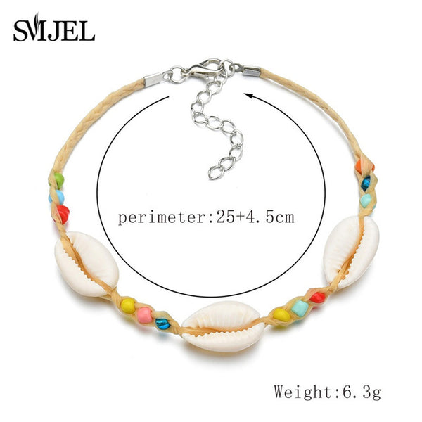 Make A Wish Vintage Shell Beads Sea Anklets