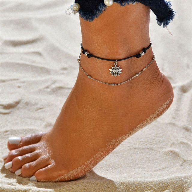 Bohemian Sunny Double Layer Anklet