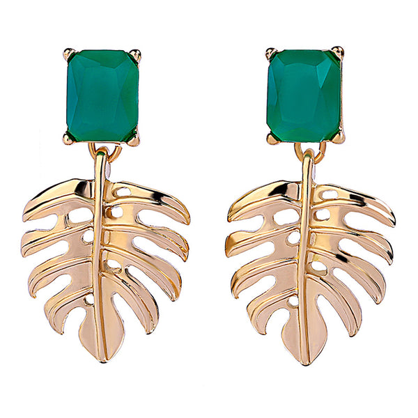 Stylish Leaf Statement Earrings