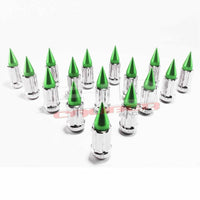 50 Caliber Racing 10 x 1.25 mm Spiked Lug Nuts Chrome - 16 Pack - Kombustion Motorsports