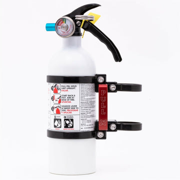 Axia Alloys Quick Release Fire Extinguisher Mount with 2 lb Extinguisher
