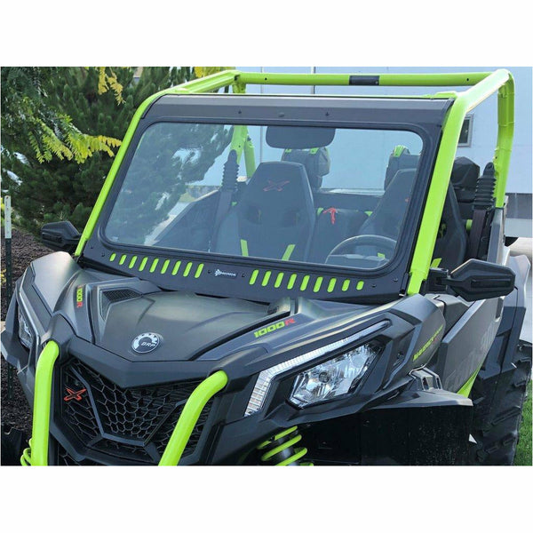 Bent Metal 2018-2020 Maverick Trail / Sport Vented Glass Windshield - Kombustion Motorsports