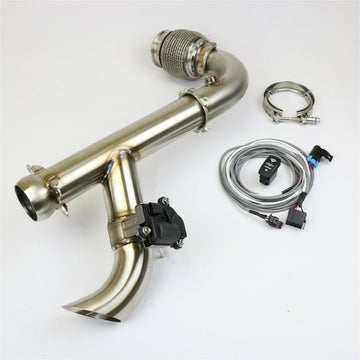 "Evolution Powersports Can Am X3 ""Shocker"" Electric Side Dump Race Bypass Pipe"