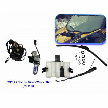 Extreme Metal Products Can-Am Maverick X3 Electric Wiper and Washer Kit (Lower Mount)