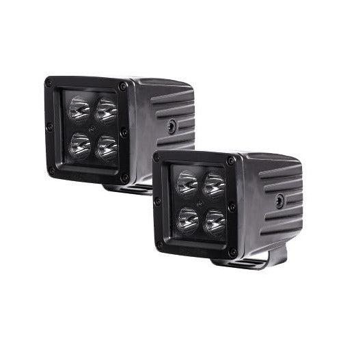 HEISE 3 INCH 4 LED CUBE SPOT LIGHT (BLACKOUT SERIES - 2 LIGHT KIT) - Kombustion Motorsports