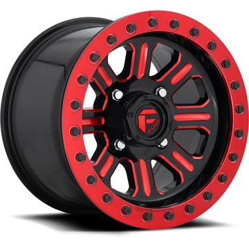 Fuel Off Road Hardline Beadlock D911 Gloss Black w/Candy Red