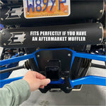 Kombustion Polaris RZR Pro XP Rear Radius Plate with Hitch Receiver - Kombustion Motorsports