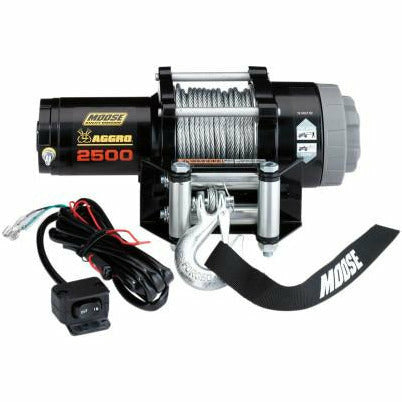 Moose Utilities 2500 lb Aggro Winch - Wire Rope - Kombustion Motorsports