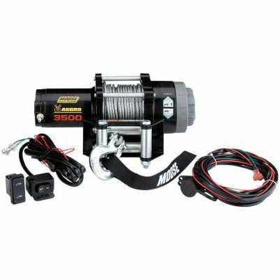 Moose Utilities 3500 lb Aggro Winch - Wire Rope - Kombustion Motorsports