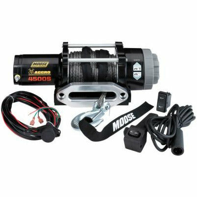 Moose Utilities 4500 lb Aggro Winch - Synthetic Rope - Kombustion Motorsports