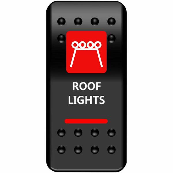 Moose Utilities Roof Lights Rocker Switch (Red) - Kombustion Motorsports