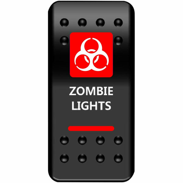 Moose Utilities Zombie Lights Rocker Switch (Red) - Kombustion Motorsports
