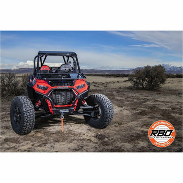 Razorback Offroad 2018+ Polaris RZR XP Turbo S Folding Front Windshield