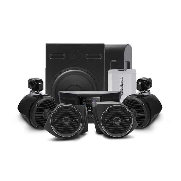 Rockford Fosgate YXZ Stage 4 400 Watt Amplified Stereo, Front Lower Speaker, Subwoofer, and Rear Speaker Kit for select YXZ® - Kombustion Motorsports