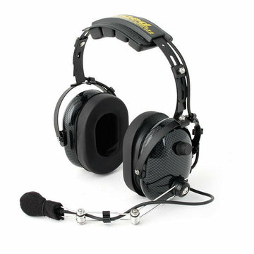 Rugged Radios H22 Black/Carbon Fiber Colored Pro-Series 2-Way Headset