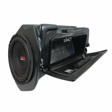 "SSV Works 2014+ Polaris RZR Turbo S Velocity and XP1000 10"" Powered Glove-Box Sub Box"