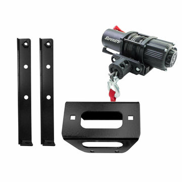SuperATV Polaris RZR Winch Mounting Plate and Winch