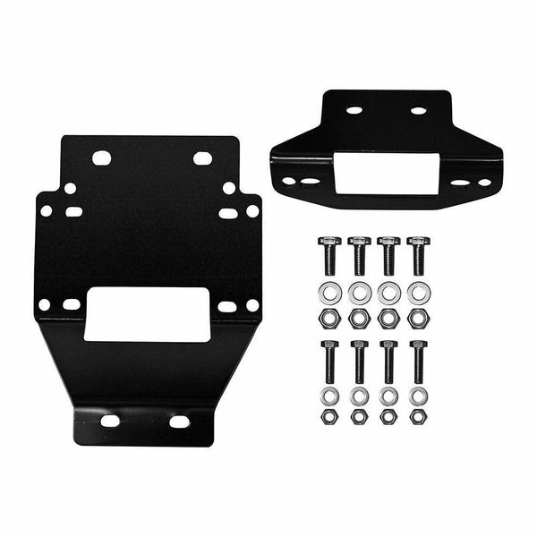 SuperATV Polaris RZR XP 900 Winch Mounting Plate For 3500 Lb. Winches - Kombustion Motorsports