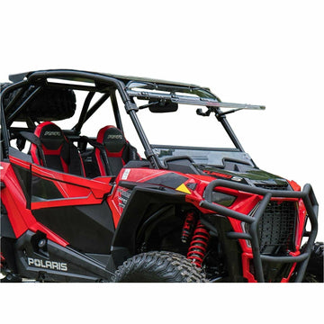 SuperATV Polaris RZR XP Turbo S Scratch Resistant Flip Windshield