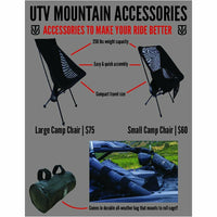 UTV Mountain Accessories Camp Chair with Roll Cage Bag - Kombustion Motorsports
