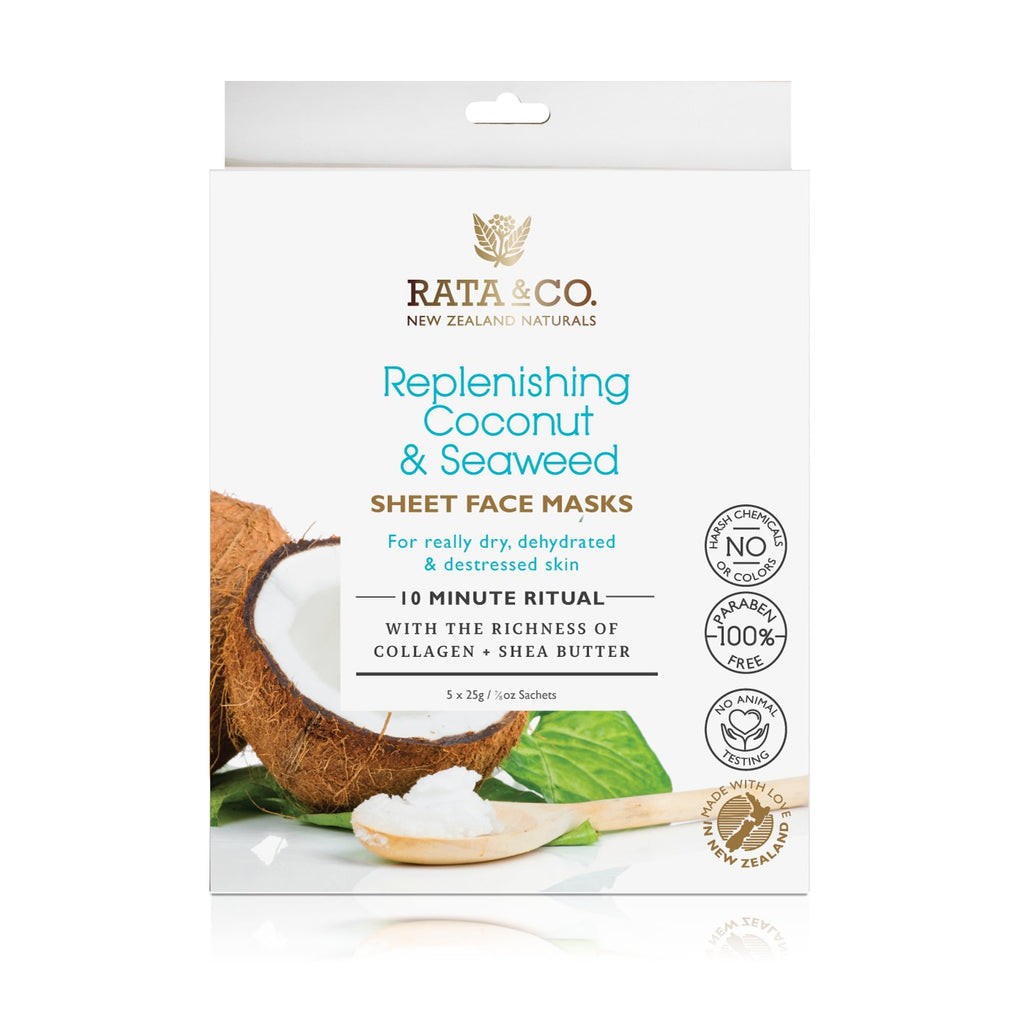 Replenishing Coconut and Seaweed Sheet Face Masks 5pack