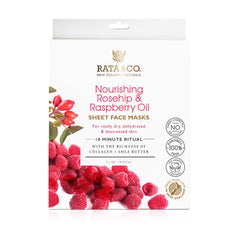 Nourishing Rosehip and Raspberry Oil Sheet Face Masks 5pack