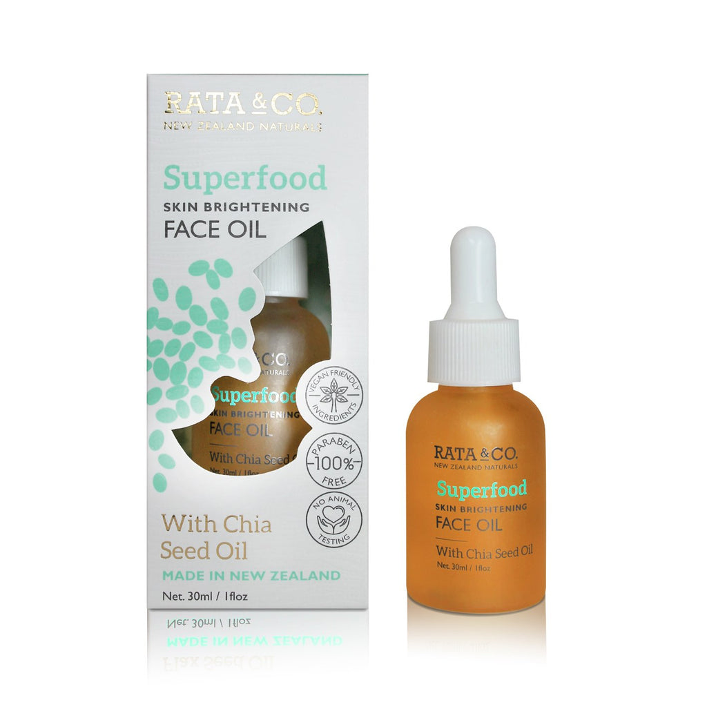 Superfood Skin Brightening Face Oil With Chia Seed Oil