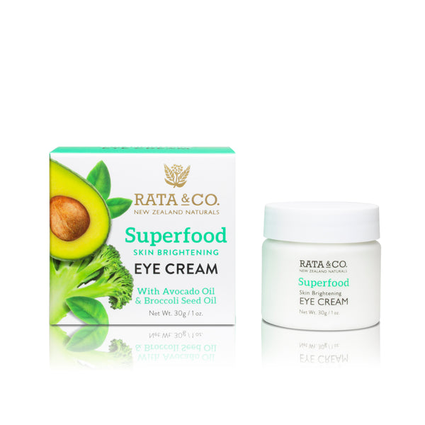 Superfood Skin Brightening Eye Cream With Avocado Oil & Broccoli Seed Oil