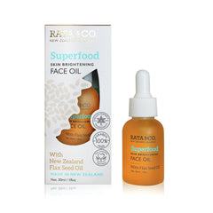 Superfood Skin Brightening Face Oil With New Zealand Flaxseed Oil