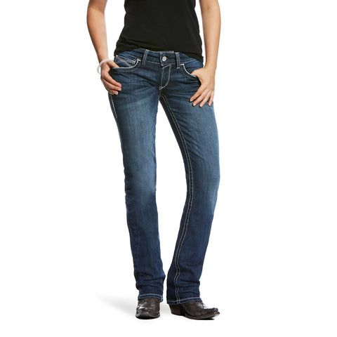 Ariat R.E.A.L Midrise Straight Leg Stretch Jean Ivy