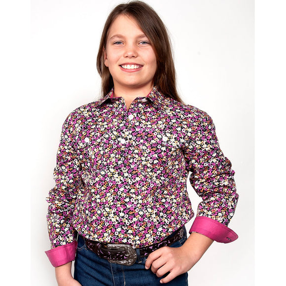 Girls Harper Half Button Workshirt