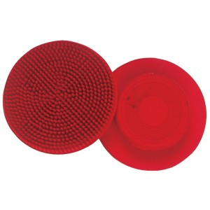 Rubber Face Curry Comb (Red)