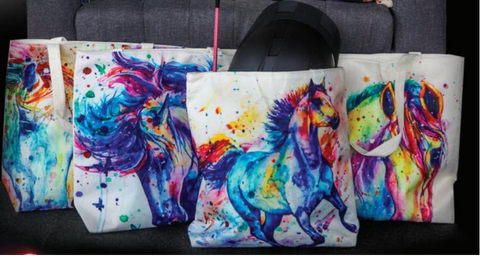 Water Colour Horse Tote Bag
