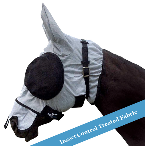 Wild Horse Mesh Flymask with Mesh Eyes, Ears and Nose
