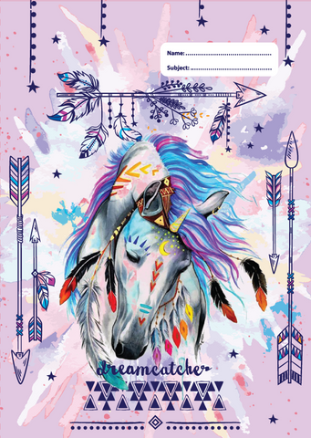 Dreamcatcher Horse A4 Book Cover