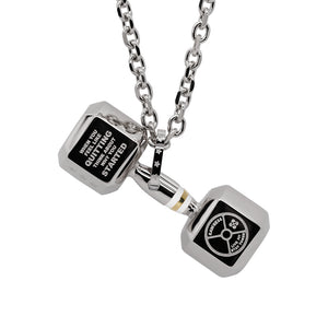 Mens Dumbbell Necklace
