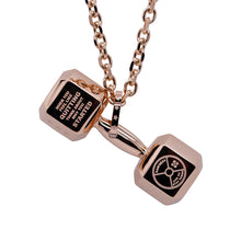 Load image into Gallery viewer, Mens Dumbbell Necklace